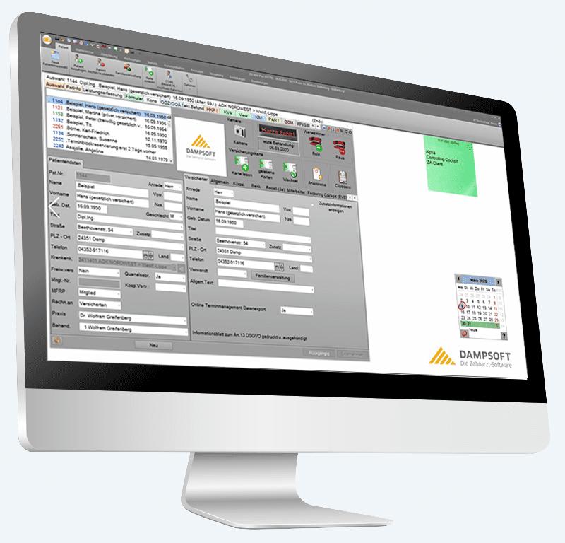 Online und kostenlos: Die Software-Demo von Dampsoft für DS-Win.