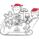Dampsoft-Fensterbild Weihnachten mit Kreidsestift