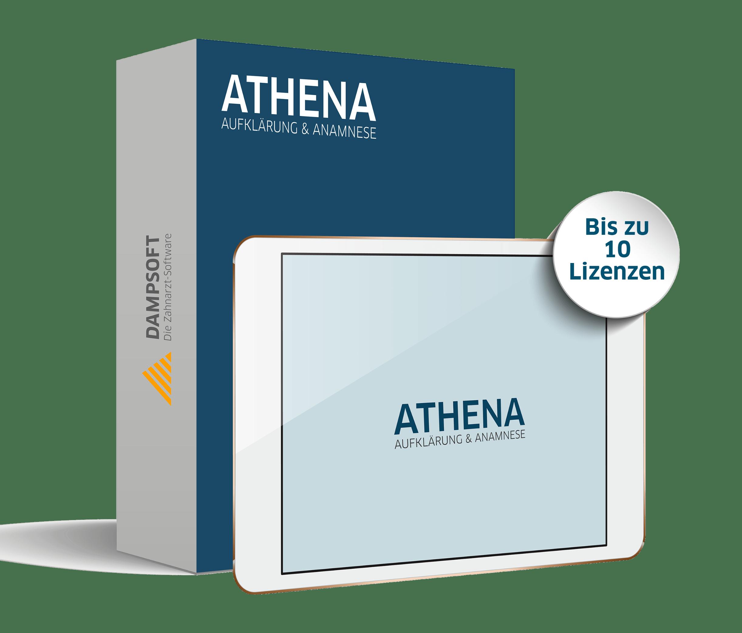 Athena Anamnese und Aufklärung Leistungspaket bis zu 10 Lizenzen